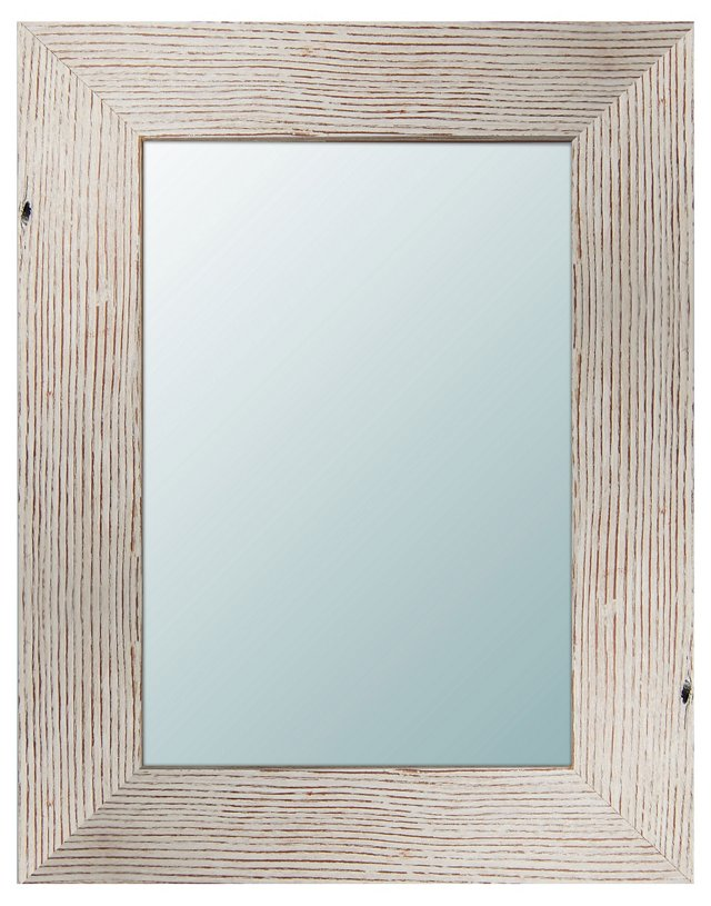 Aaron Accent Mirror, Light Wood