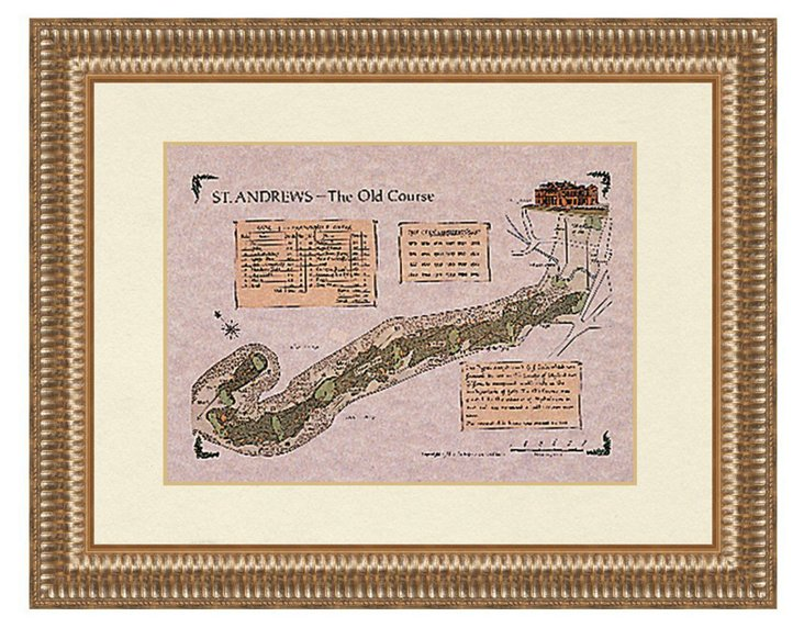 St. Andrews, The Old Course Map