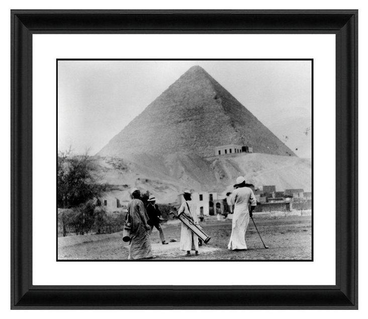 Golf at the Pyramids