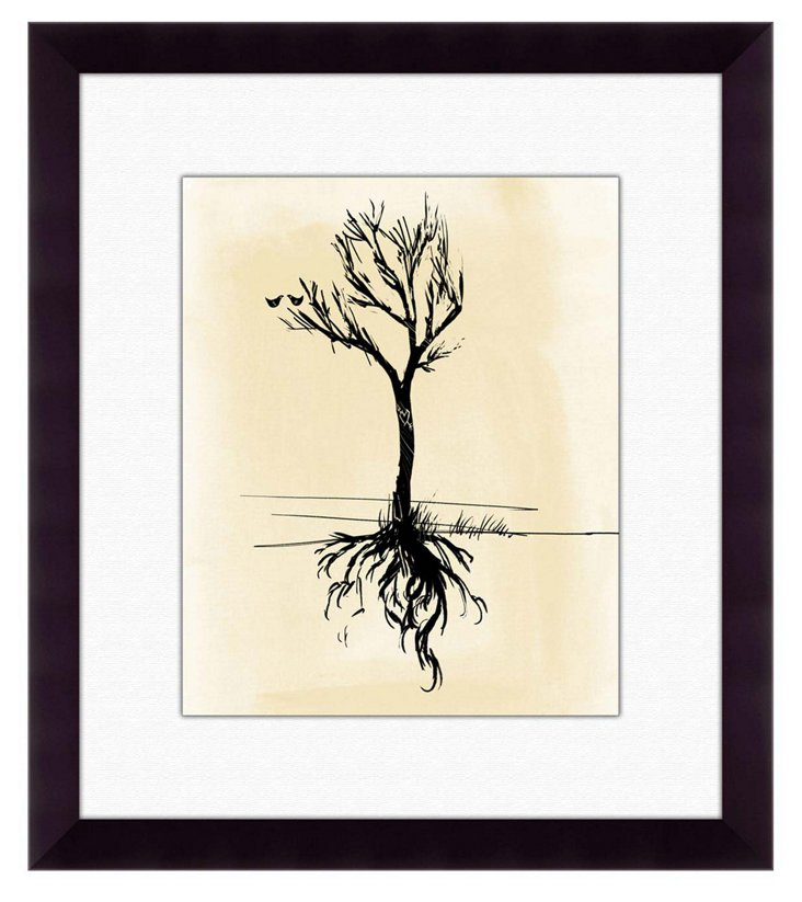Framed Tree Silhouette Print
