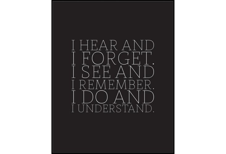I Hear & Forget Print