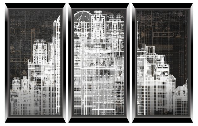 Urban City Triptych