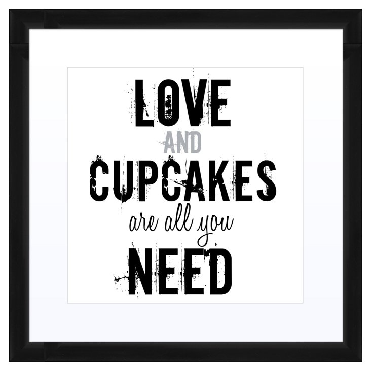 Love and Cupcakes Print