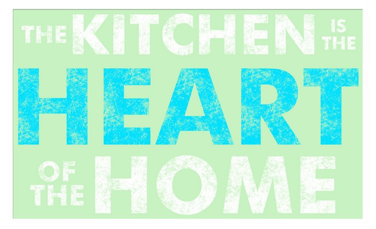 Kitchen is the Heart of the Home Print
