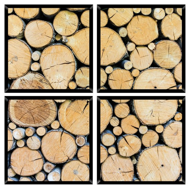 Wood Mini Quadriptych