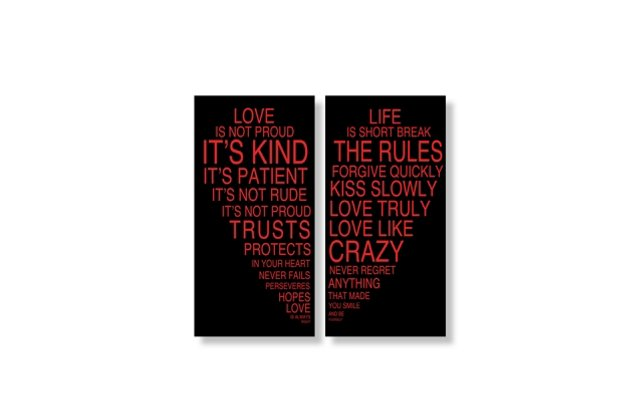 Love Is & Life is IV Set of Two Print