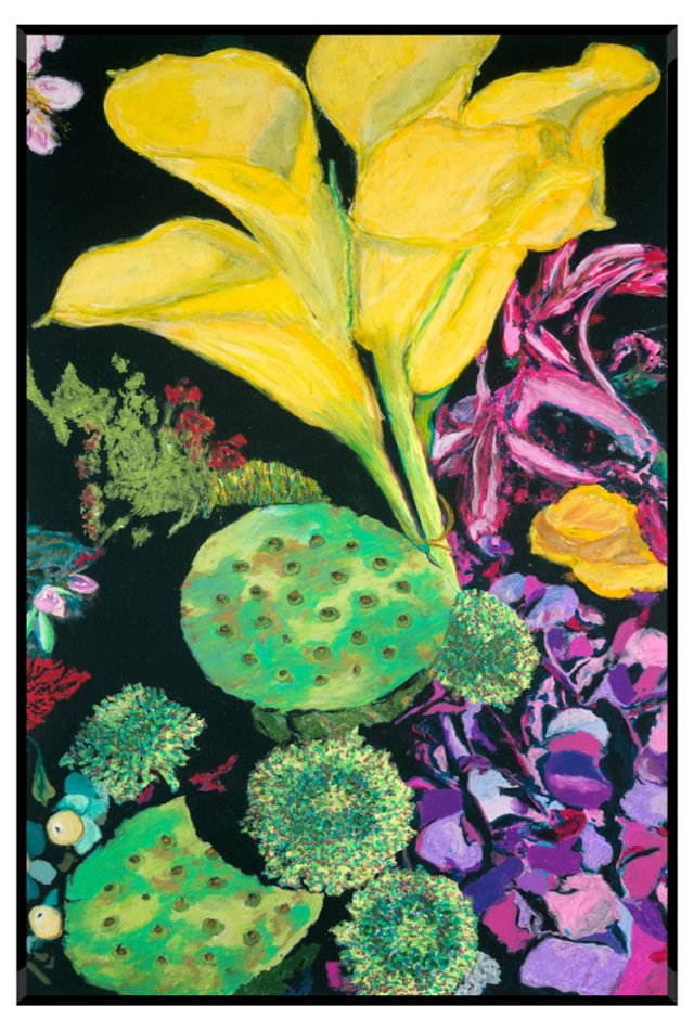 Alan Friedlander, Yellow Floral Burst I