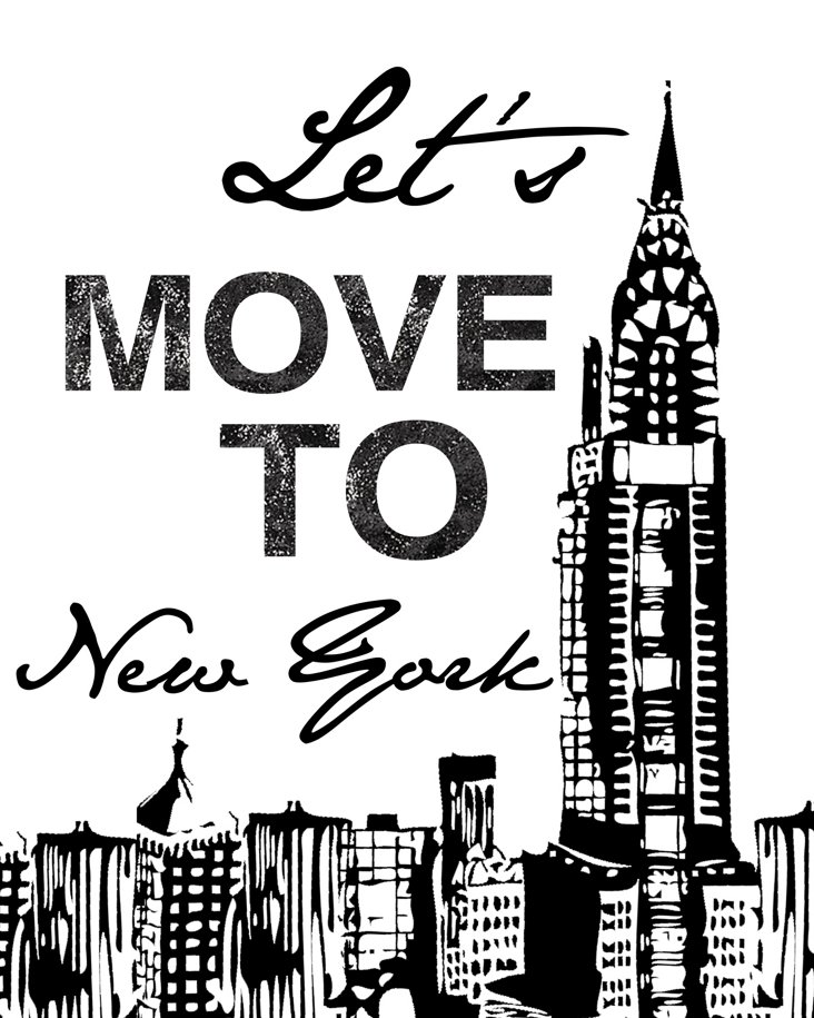 Let's Move To New York Canvas Print