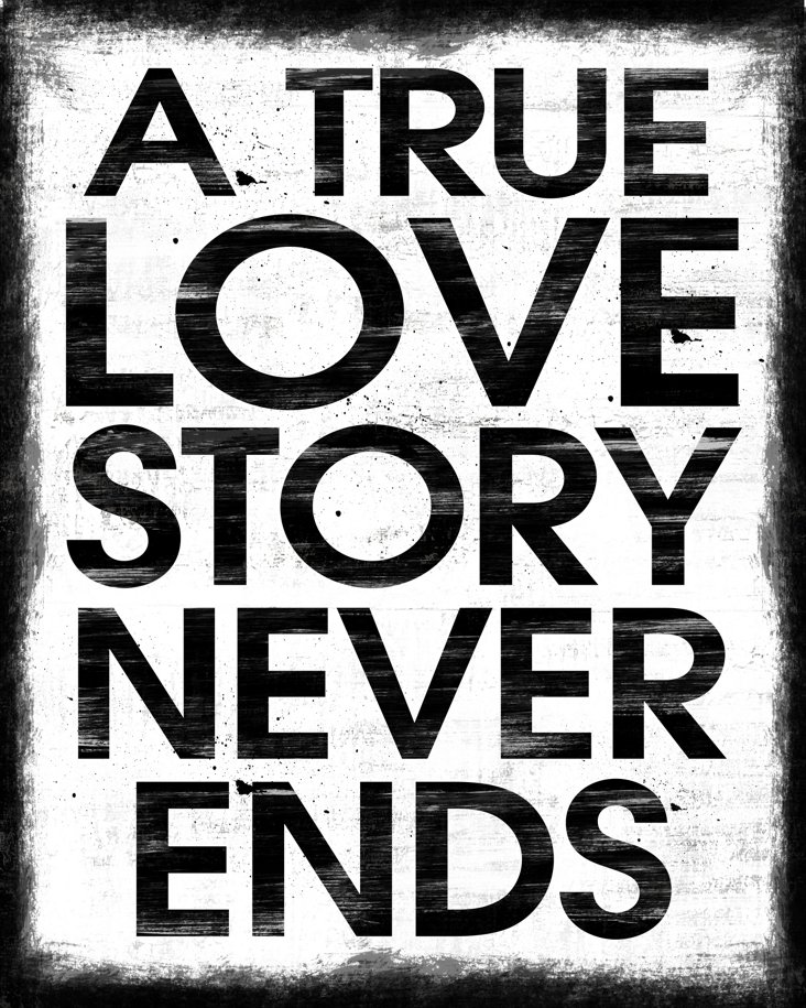 A True Love Story Canvas Print