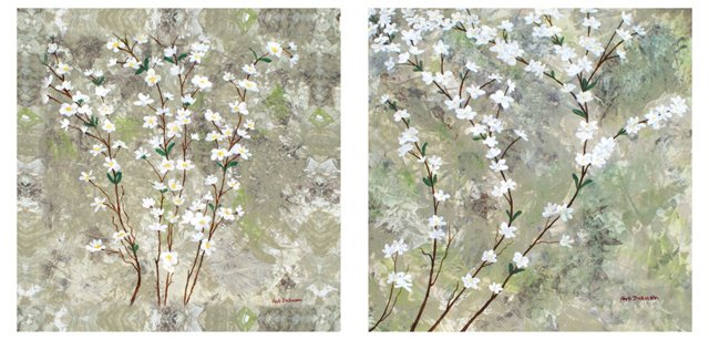 Dickinson, Pear Blossom Canvas Set of 2