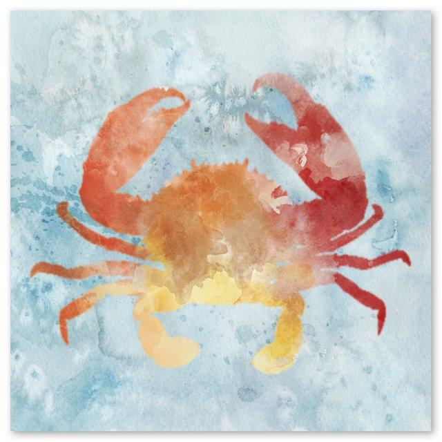 Watercolor Crab Canvas
