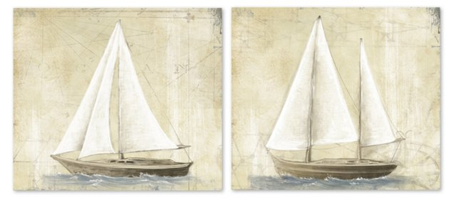 Sailboat Diptych