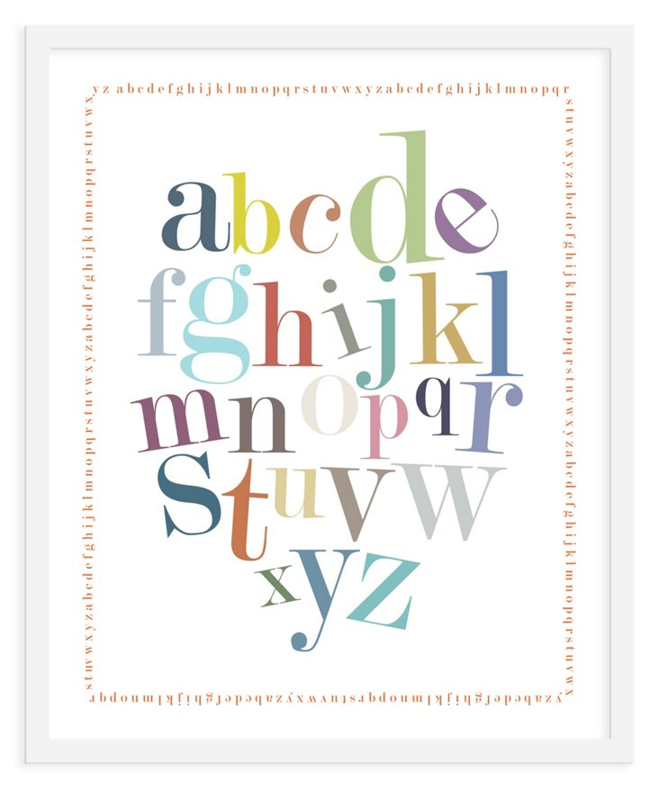 ModernPOP, Alphabet Border Print, Mini