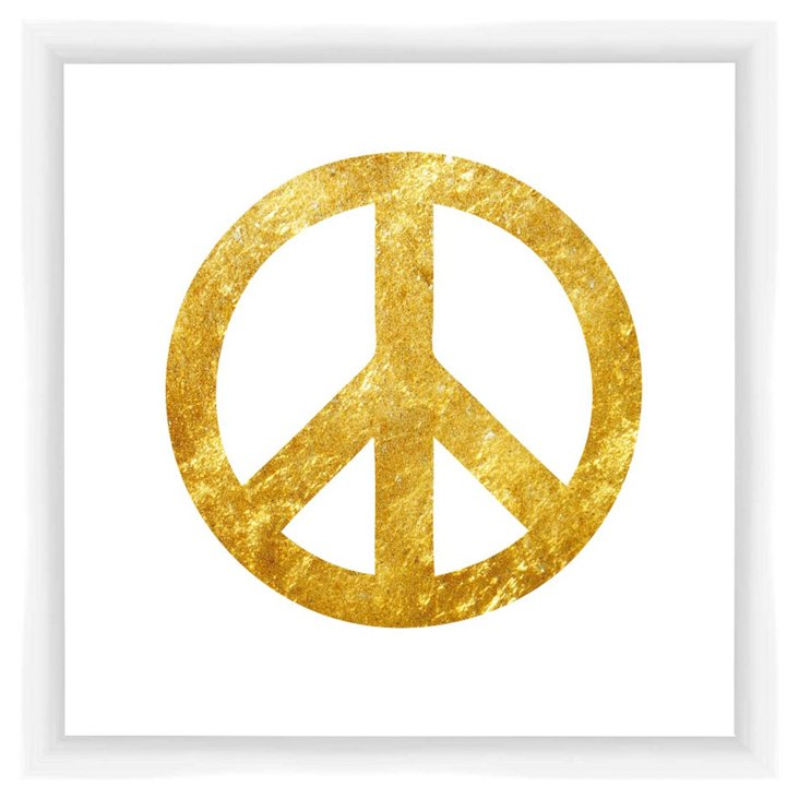 Peace Sign, Gold