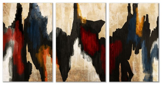Native American Abstract Triptych