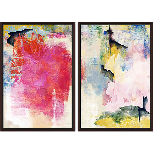 Colorful Strokes Diptych