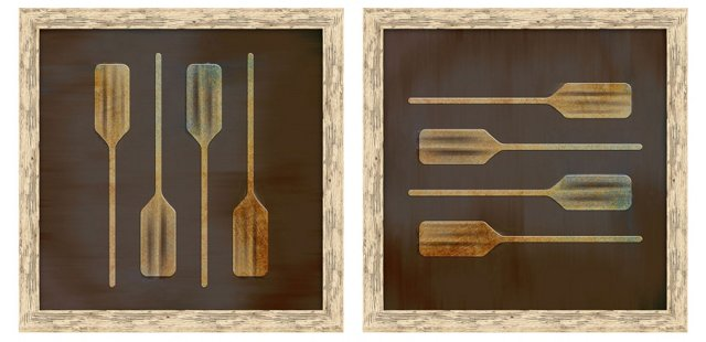 Boat Paddles, Set of Two