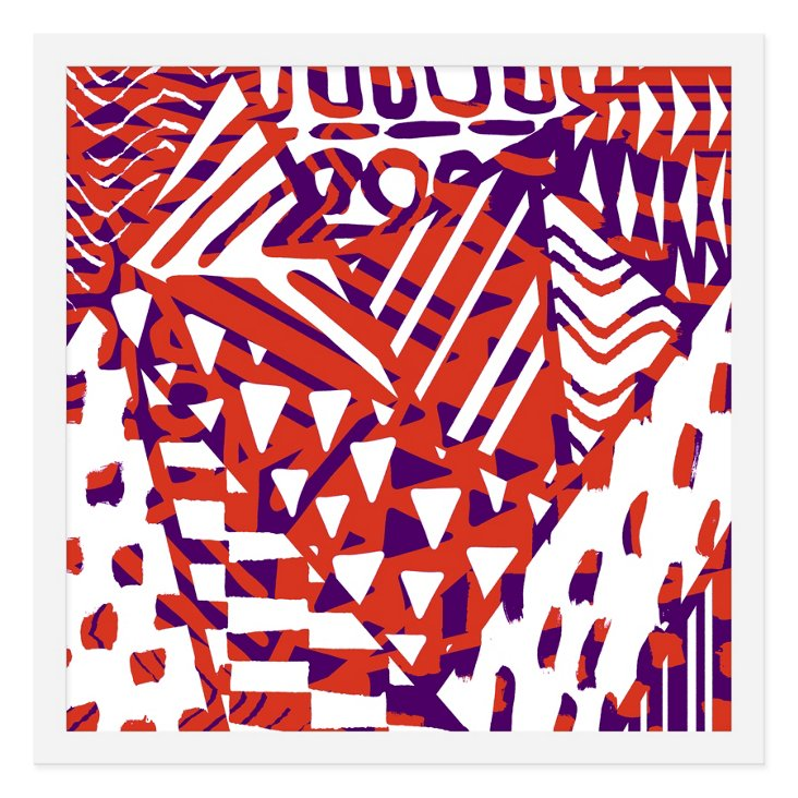 Sarah Bagshaw, Purple & Orange