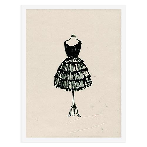 50s Dress 378 Drawing