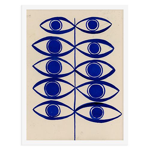 Eye Leaf Poster