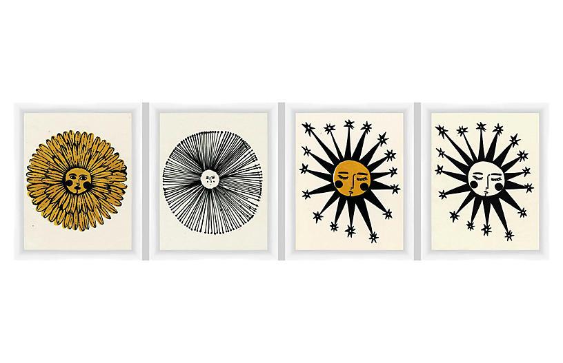 Send Me Sun! Set of 4 - As Collective Art