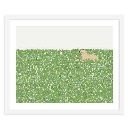Jorey Hurley, Dog In Grass