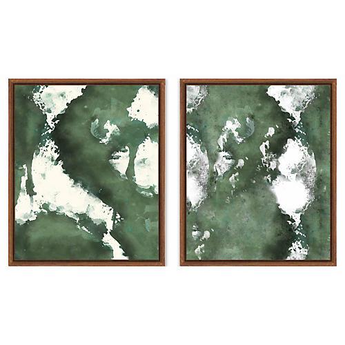 Abstract Green Splash