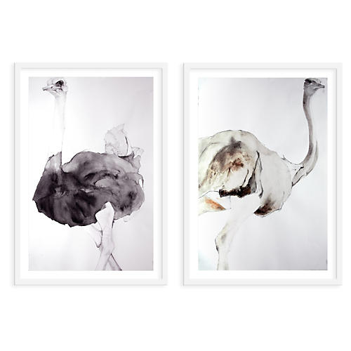 Ostrich Pair, Heather Lancaster