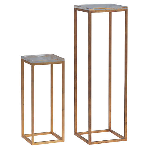 Lily Pedestals, Set of 2