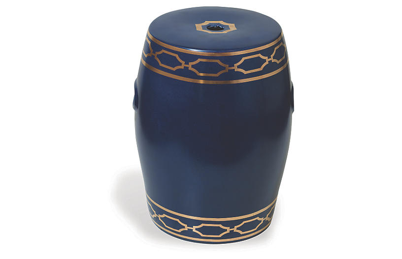 Pavol Garden Stool - Indigo/Gold - Port 68