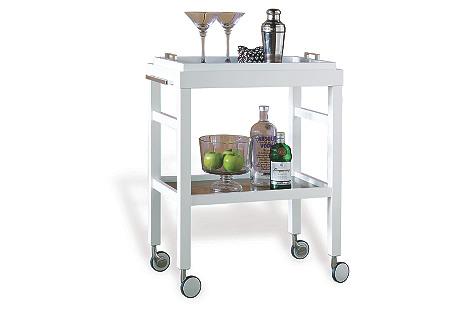 Amelie Bar Cart, White