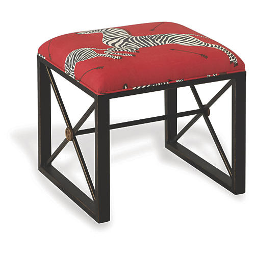 Scalamandre Left-Facing Masai Stool