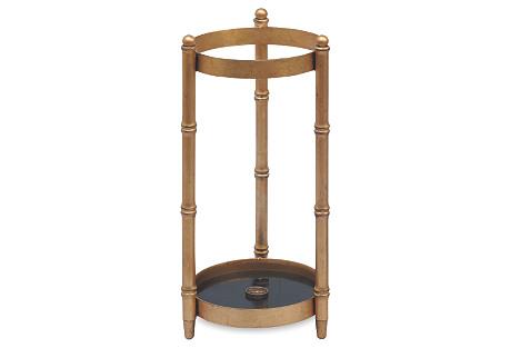 Scalamandré Baldwin Umbrella Stand, Gold