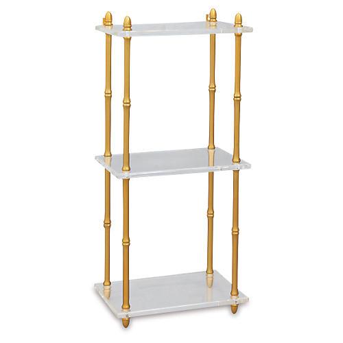 Carmel Brass & Lucite Shelf