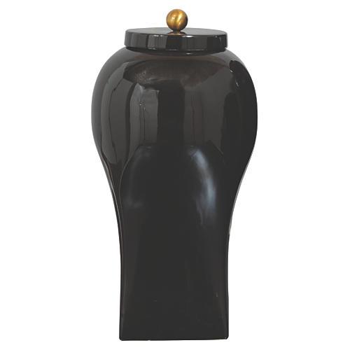 "17"" Boulevard Jar, Black"