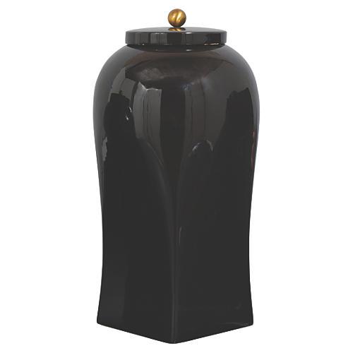 "20"" Boulevard Jar, Black"