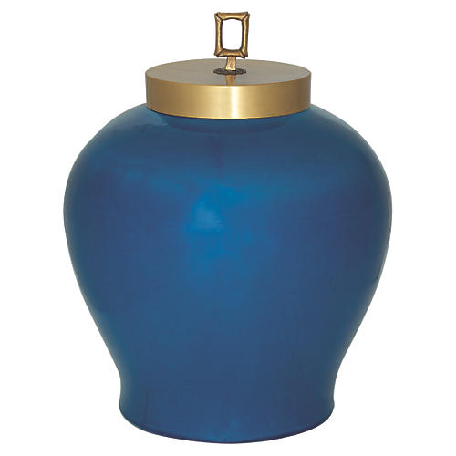 "15"" Melrose Jar, Blue"