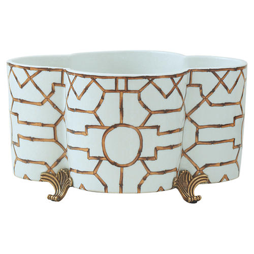 Baldwin Planter, White/Gold