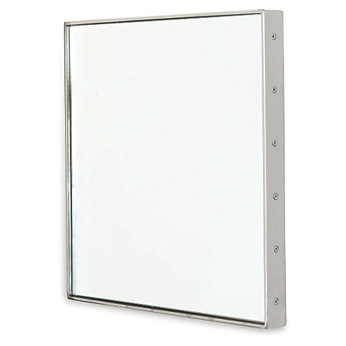 "Patrick 18"" Wall Mirror, Nickel"