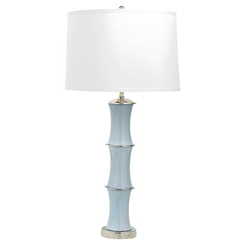 Rivoli Table Lamp, Smoke Gray