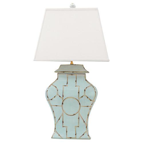 Baldwin Table Lamp, Blue