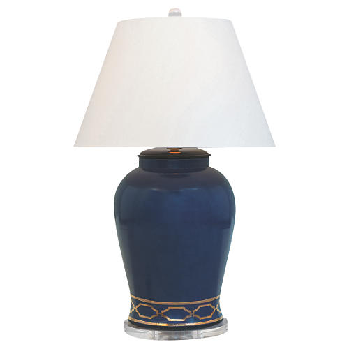 Pavilion Table Lamp, Indigo