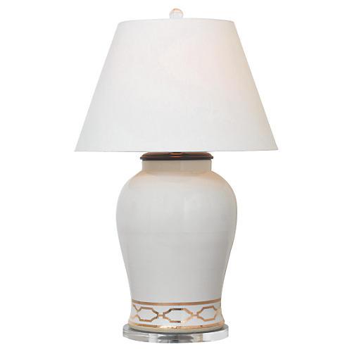 Pavilion Table Lamp, Cream