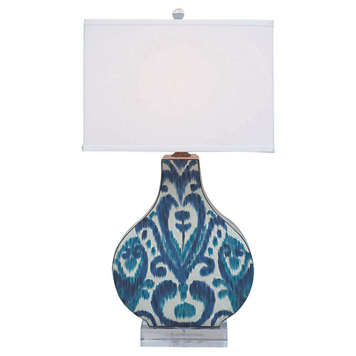 Greystone Table Lamp, Indigo