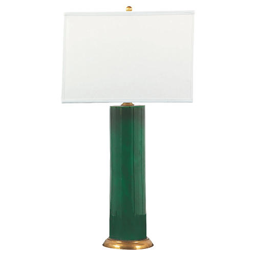 Melrose Table Lamp, Emerald