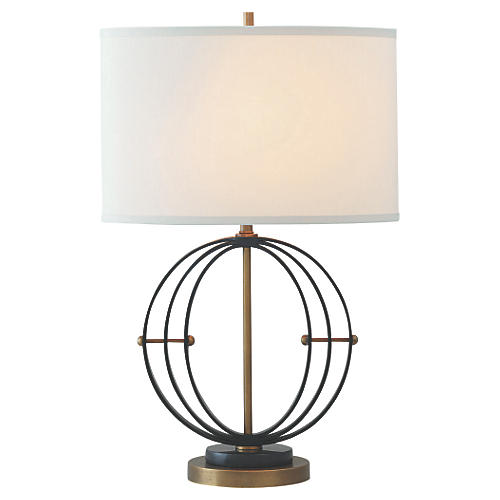 Andrew Table Lamp, Aged Brass