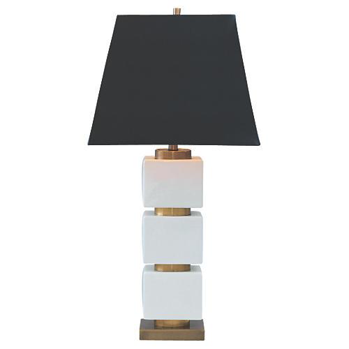 Manhattan Table Lamp, Ivory