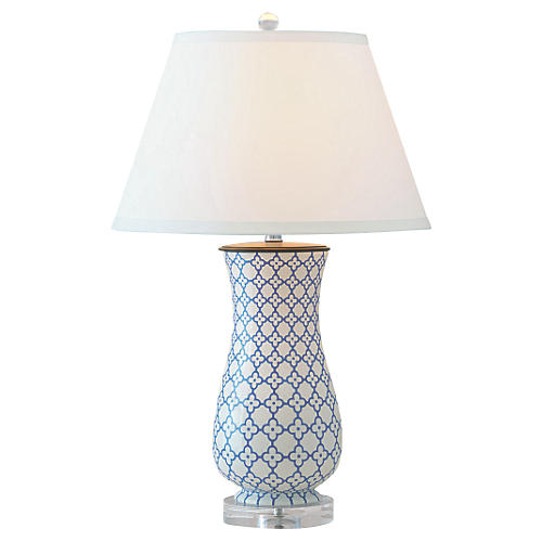 Clover Table Lamp, Blue