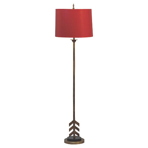 Franco Floor Lamp, Red