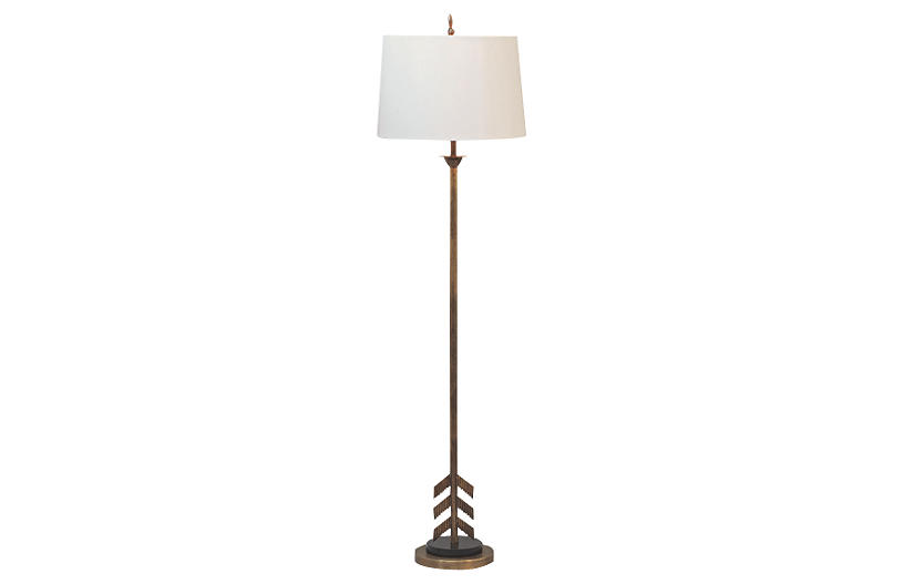 Regina Andrew Clove Stem Floor Lamp Antiqued Gold One Kings Lane